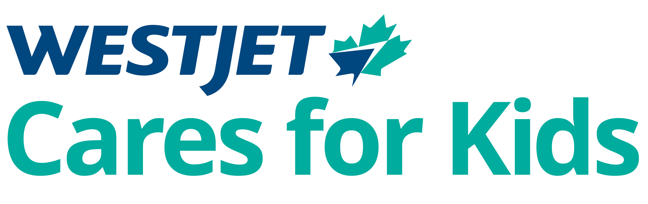 WestJet Cares for Kids logo 2019
