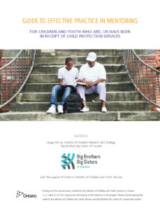 Guide to Mentoring Youth in Care